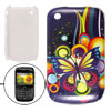 IMD Butterfly Print Hard Plastic Case Cover for Blackberry 8520