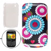 IMD Flowery Pattern Hard Plastic Guard Cover for Blackberry 8520