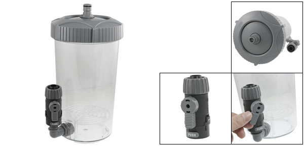 Fish Tank Aquarium Gray Clear Plastic External Filter 2L