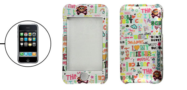 Colored Letters Printed Smooth Hard Plastic Case for iPod Touch 2G 3G