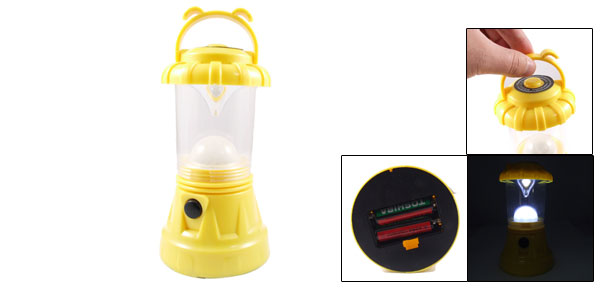 Portable Yellow Shell 10 LEDs Bivouac Camping Hiking Lantern Lamp White Light