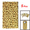 Cell Phone Two Tone Brown Leopard Pattern DIY Yellow Stickers 5 P...