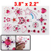 Red Heart Star Floral Plastic Rhinestone Stickers for Cell Phone