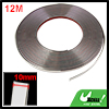 15M x 10mm Flexible Silver Tone Sticky Chrome Moulding Trim Strip...