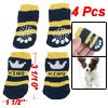 2 Pairs Crown Printed Non Slip Bottom Knitted Socks Dark Blue for...