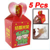 Wedding Double Happiness Print Red Cardboard Gift Case Box x 5