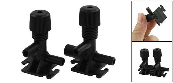 Aquarium Black Plastic Male to Female Connect 3 Way Air Control Valve