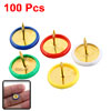 100 Pcs Office Assorted Color Round Top Push Pins Thumb Tacks 10m...