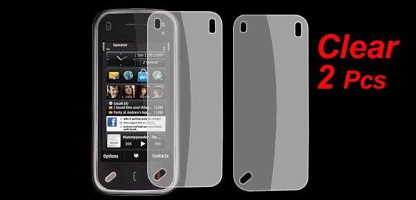 2 x Clear Screen Guard Protective Film for Nokia N97 Mini