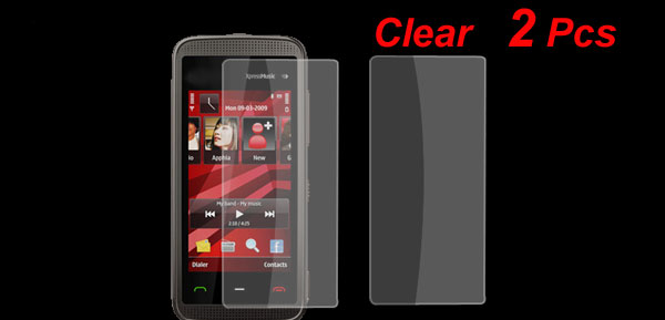 2 Pcs Clear Screen Protective Film for Nokia 5530
