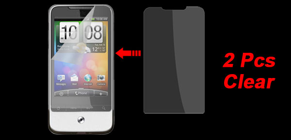 2 x Transparent LCD Film Screen Protector Guard Shield for HTC G6