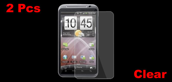 2 x High Transparent Protective Film Screen Guard for HTC Thunderbolt 4G