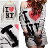 Woman Gray Long Sleeve Sequin Lettered Sweatshirt w Shorts Suit X...