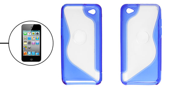 Blue Nonslip Side Case Cover Shell for Apple iPod Touch 4G