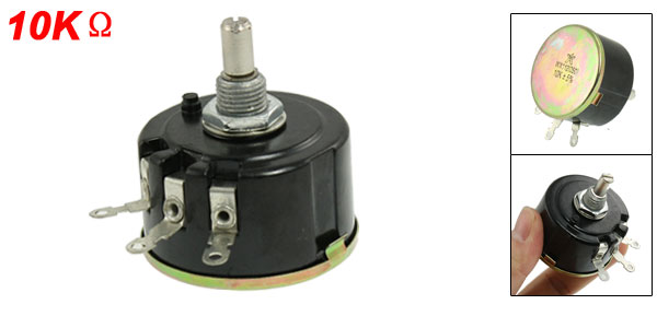 5% Tolerance 10K Ohm Resistance 3 Terminals Wirewound Potentiometer