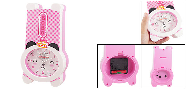 Pink Cartoon Design Arabic Number Alarm Clock Coin Money Box Bank