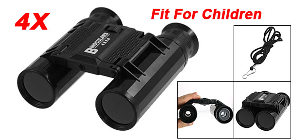 Folding 4 x 28mm Camping Travelling Binoculars Telescope Toy for Children