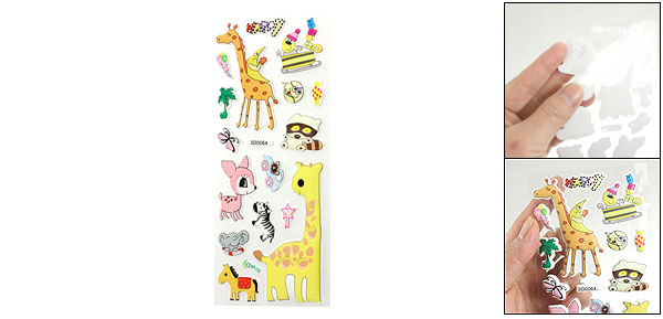 Cute Giraffe Horse Animals 3D Foam Stickers Decor for Phone Laptop