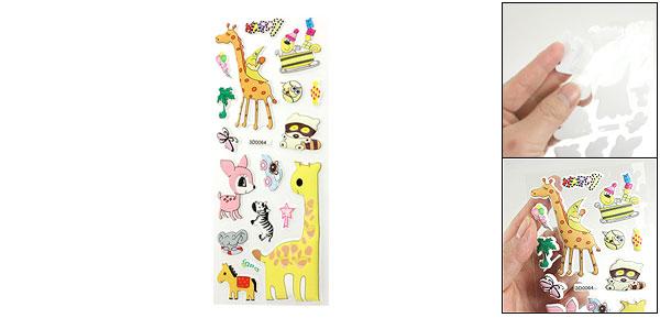 Cute Giraffe Horse Animals 3D Foam Stickers Decor for Phone Laptop