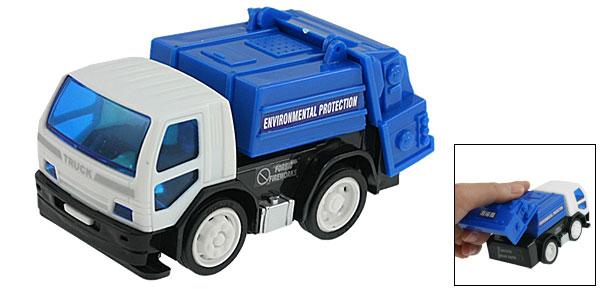 Children Blue White Plastic Environmental Protection Truck Car Toy
