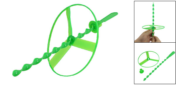 Green Spinning Shooter Clover Flying Disc Playing Toy