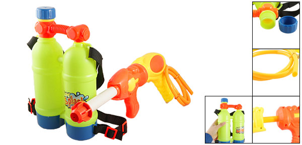 Child Backpack Connected Double Pumps Water Gun Fight Set