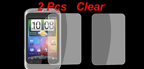 2 Pcs Replacing Clear LCD Screen Protector Films for HTC G8 S