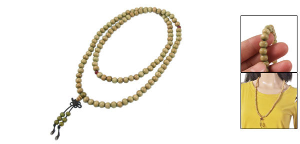 108 Round Sandalwood Beads Tibetan Buddhist Mala Prayer Necklace 29