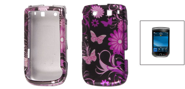 Flower Butterfly Print Hard Plastic Case Cover for BlackBerry 9800