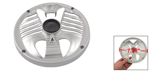 Silver Tone Plastic Cobra Style Subwoofer Grill Speaker Cover 18.5cm