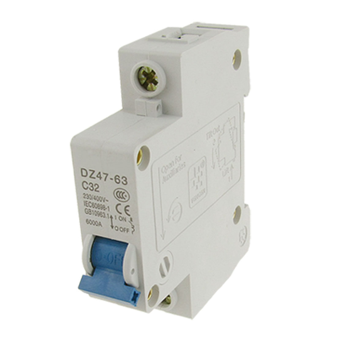 Single-Pole-1P-Overload-Miniature-Circuit-Breaker-AC-230V-400V-32A