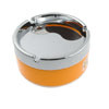 Silver Tone Orange Cylinder Shaped Cigaretter Holder Smoking Ashtray
