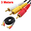 Triple 3 RCA Male to Male Audio Video DVD TV AV Cable 4.6M Long B...