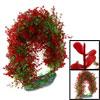 """Aquarium Fish Tank Red Green Plastic 12"""" Aquatic Plant Decor"""