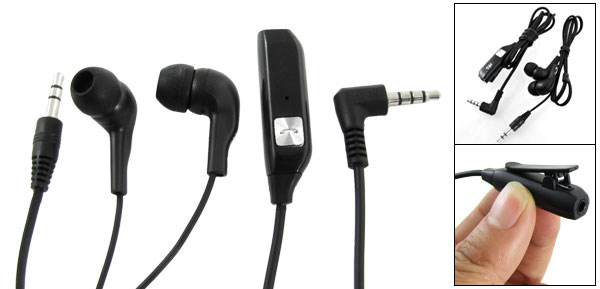 Black Clamp Mic Heaphone Adapter Earphone for Nokia N95