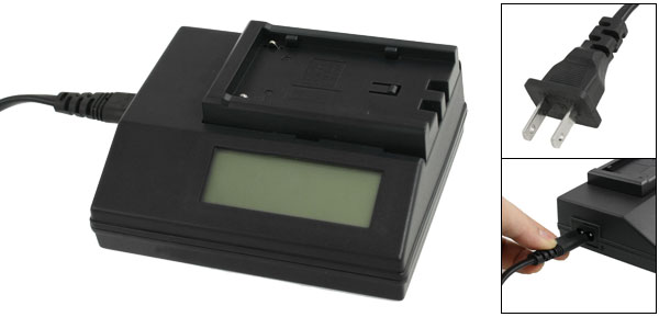 Digital LCD Quick Battery Charger for Canon BP-911 BP-915