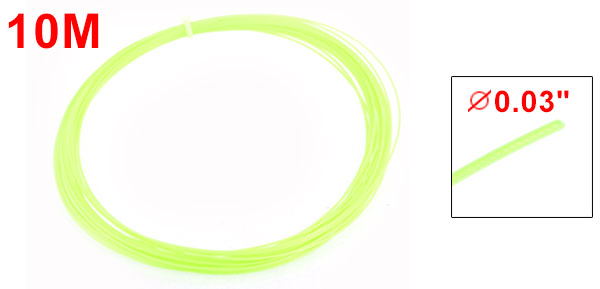 10M 32.8 Ft Long Yellowgreen Badminton Racket Racquet String 0.75mm Gauge