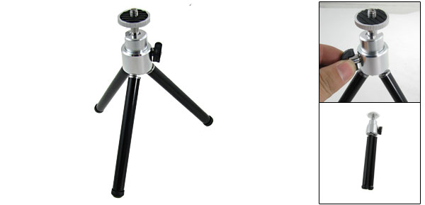 Black Aluminium Alloy Stretch Legs Mini Foldable Camera Tripod Stand