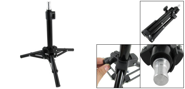 Camera Metal Photographic Portable Folding Photo Studio Tripod Light Stand Black