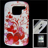 IMD Red Butterfly Heart Plastic Back Case Protector for Nokia E5