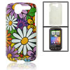 IMD Colorful Flower Printed Hard Plastic Back Shell for HTC Desir...