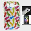 IMD Multicolor Foot Print Hard Plastic Back Shell Case for HTC De...