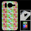 IMD 4 Colors Circle Print Hard Plastic Back Shell Case for HTC De...