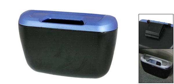 Car Interior Adhesive Blue Black Trash Bin Dustbin Junk Container