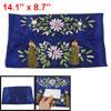 Floral Pattern Manmade Silk Paper Holder Case Pouch Organizer Blu...