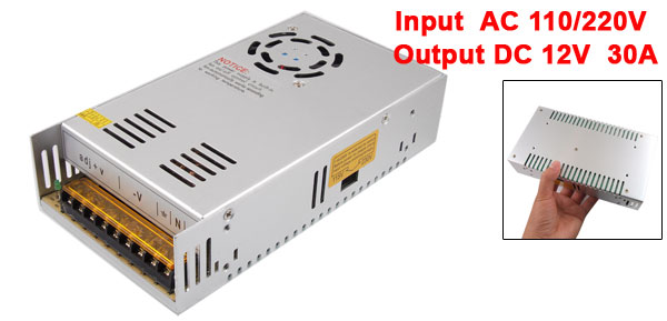 AC110/220V 12V 30A 360W Switching Power Supply Converter for LED Strip Light