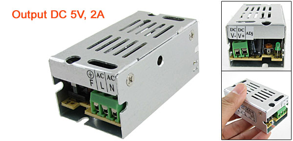 AC 110/220V to DC 5V 2A 10W Switch Driver Power Supply for LED Strip Light
