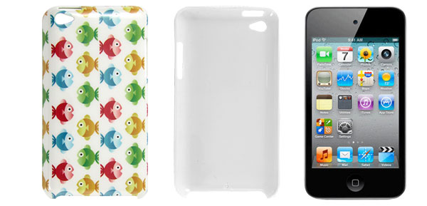 Colorful Fish Prints Hard Plastic IMD Back Case for iPod Touch 4