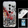 IMD Circle Pattern TPU Soft Plastic Back Shell for HTC EVO 3D