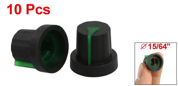 10x Rubber Coated Plastic 6mm Shaft Dia Knurled Grip Potentiometer Knobs